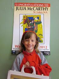 julia wins colouring competition st luke s school douglas congratulations