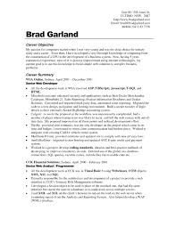 example resume sample job objective for career and summary senior cover letter example resume sample job objective for career and summary senior web developerobjectives resume sample