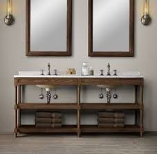 washstand bathroom pine: rhs weathered oak double washstandrustic yet refined our solid oak washstand features open shelving that offers streamlined storage in the bath
