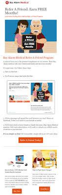 email blast examples that rock friendbuy bay alarm medical email blast