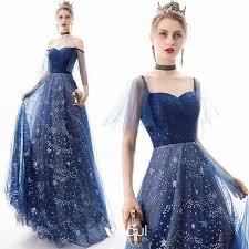 Modern / <b>Fashion Navy Blue</b> Evening Dresses <b>2019</b> A-Line ...