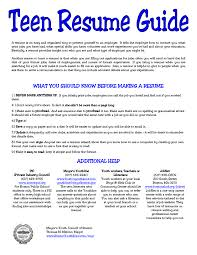 5 resume for teens sample sample resumes sample resumes 5 resume for teens sample sample resumes