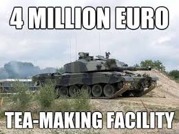 Armored Tea Making Facility | Military Humor via Relatably.com