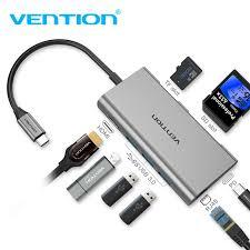 <b>Vention</b> USB C <b>Hub</b> Adapter USB 3.1 to <b>USB 3.0</b> HDMI RJ45 ...