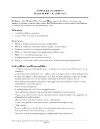 medical assistant job description resume   singlepageresume com    medical administrative assistant job description for resume latest sample