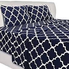 Utopia Bedding Printed Bed Sheet Set - 4 Piece ... - Amazon.com