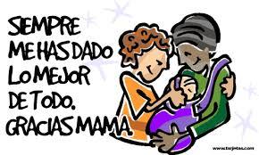 Image result for gracias mamá