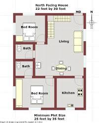 Duplex house plan for North facing Plot feet by feet Plan    Duplex house plan for North facing Plot feet by feet