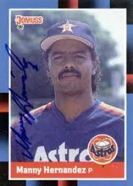 Manny Hernandez Autograph on a 1988 Donruss (#481) - manny_hernandez_autograph