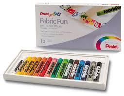 Купить <b>Pentel Пастель для ткани</b> FabricFun 15 цветов по низкой ...