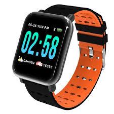 Купить фитнес-браслет <b>ZDK A6</b>, оранжевый в каталоге интернет ...