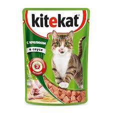 Влажный <b>корм для кошек Kitekat</b> с кроликом в соусе 85 г купить по ...