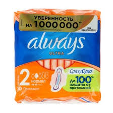 <b>Прокладки Always</b> Ultra <b>Normal</b> Plus, 10 шт. (1163519) - Купить по ...
