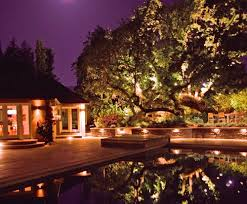 english cottage garden backyard landscape lighting
