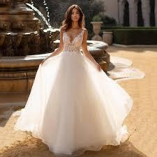 <b>Eightree</b> A Line Wedding Dress 2020 Vestido de noiva Illusion ...