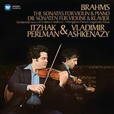 <b>Brahms</b>: Violin Sonatas by <b>Itzhak Perlman</b>, Vladimir Ashkenazy ...
