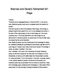 analysis on fahrenheit one of the major themes in the novel    there are many messages themes in fahrenheit   in