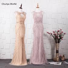 YY017 Churlya Wurfel champagne <b>gold crystal</b> evening dresses ...