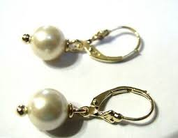 <b>GENUINE</b> NEW 9CT 9KT YELLOW GOLD <b>8mm WHITE</b> PEARL ...