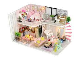<b>Сборная модель DIY</b> House MiniHouse Розовый лофт M035 ...