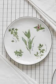 <b>Тарелка закусочная</b> из фарфора herbarium 21 см <b>Easy</b> Life - цена ...