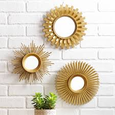 mirror wall decor circle panel: better homes and gardens  piece mirror set multiple finishes walmartcom