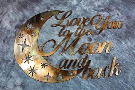 iron wall decor u love: love you to the moon and back metal wall decor