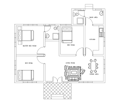 Single Story Archives   DWG NET   Cad Blocks and House PlansSingle story three bed room small house plan       dwg cad file from dwgnet