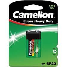 Купить <b>Батарейка</b> 9V <b>Крона</b> солевая <b>Camelion 6F22</b> в блистере ...
