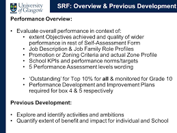 performance development review cose session for senior academic 16 srf
