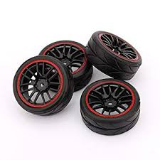YOSOO(TM)<b>4PCS RC</b> Racing <b>Rubber Tires</b> Fit HSP HPI 9068-6081 ...