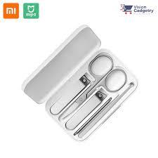 Mi <b>Mijia Nail Clipper</b> Manicure Pedicure Set 5pcs Stainless Steel ...