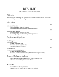resume examples  example of a simple resu  axtran    resume examples  example of a simple resume for objective with education and employment highlights
