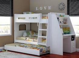 olympic bunk bed with desk trundle oak beech white or full white bunk bed desk trundle