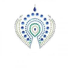 <b>Украшение на Грудь</b> Bijoux Indiscrets - Flamboyant, сине-зеленое ...