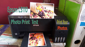 <b>Epson</b> L3110 <b>Photo</b> Print test in <b>glossy photo paper</b> - YouTube