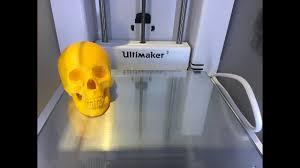 3D <b>Printing</b> #<b>6</b> - <b>Skull</b> - Ultimaker 3 | Test Print | PLA - YouTube
