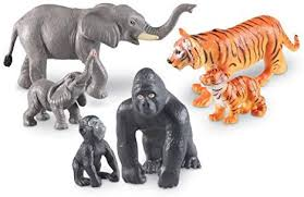 Amazon.com: Learning Resources Jumbo <b>Jungle</b> Animals: Mommas ...