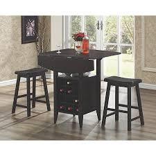 $#cheap Coaster <b>3</b>-<b>Piece Bar</b> Table Set with Wine Rack Storage ...