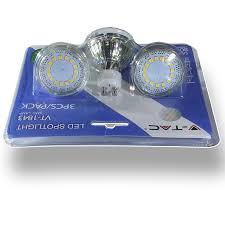 LED Spotlight – <b>4W</b> GU10 Glass Cup 4500K /Blister Pack <b>3pcs</b> ...