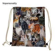 2019 <b>Nopersonality Custom</b> String Backpack Cute 3d Animal Cat ...