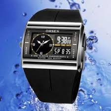 OHSEN Unisex Waterproof Digital LCD Alarm Date Mens ... - Vova