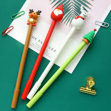 <b>4pcs Merry Christmas</b> Gift Gel Pen Ballpoint Black Color Ink Pens ...
