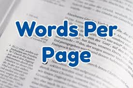 words per page convert words to pages calculator