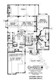 Garrell Associates  Inc Mill Spring Cottage House Plan   G    Timber Bridge Cottage House Plan     st Floor Plan  Mountain Cottage Style House Plans  Craftsman Style House Plans  Like master
