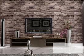 prices chinese wall new d luxury wood blocks effect brown stone brick m vinyl wallpaper ro