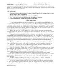 example of autobiographical essay cover letter examples of autobiographical essays example of