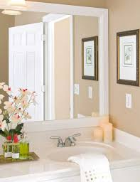 bathroom remodel large framed  photos gallery of how to hang a large framed bathroom mirrors