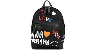 <b>KENZO</b> Synthetic 'i <b>Love You</b>' Backpack in Black - Lyst