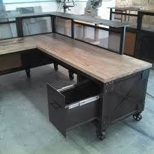 pine desk l shaped desk and wood and metal on pinterest awesome custom reclaimed wood office desk